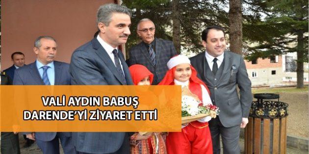 Malatya Valisi Aydın Baruş Darende'yi Ziyaret Etti