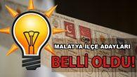 AK Parti'nin Malatya İlçe Adayları Netleşti