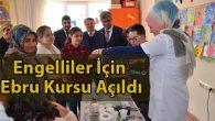 Halk Eğitimi Merkezi'nden Engelliler İçin Ebru Kursu