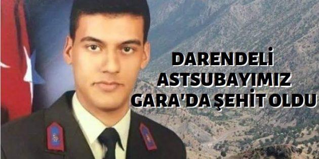 Darendeli Astsubay Gara'da Şehit Düştü